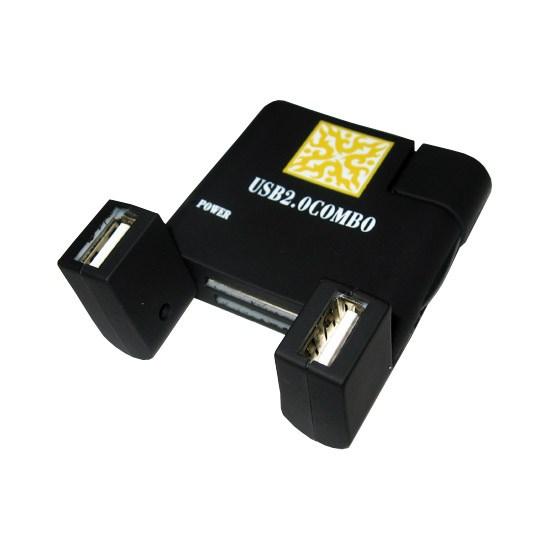 Картридер All in 1 + Hub USB 2.0 Combo в ассортименте