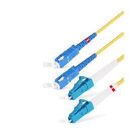 Патч Корд Оптоволоконный SC/UPC-LC/UPC SM 9/125 Duplex 3.0мм 0.5 м