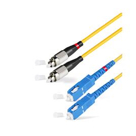Патч Корд Оптоволоконный SС/UPC-FC/UPC SM 9/125 Duplex 3.0мм 0.5 м