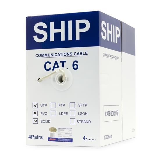 Кабель сетевой SHIP D165-P Cat.6 UTP 30В PVC