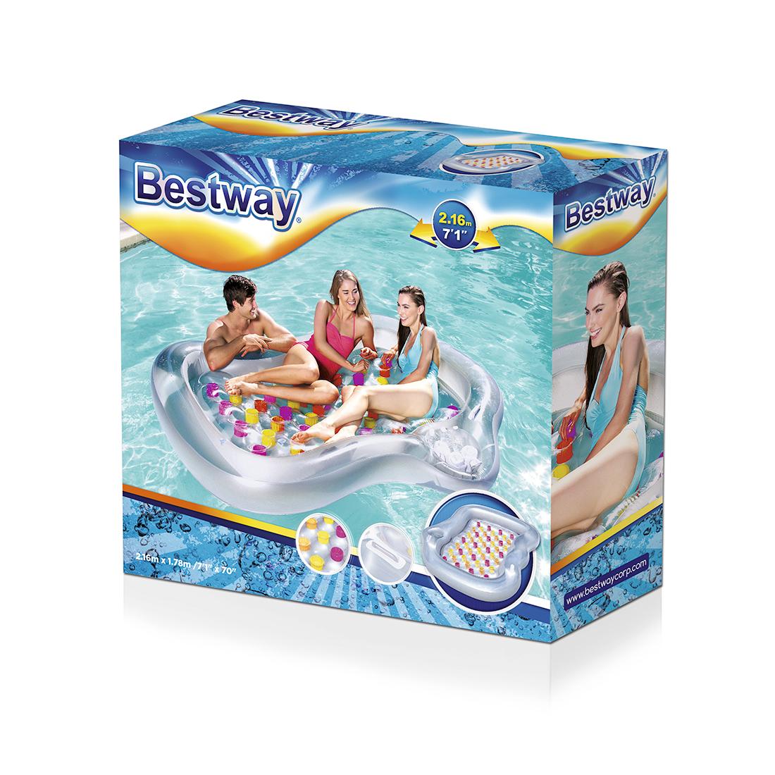 Надувной пляжный матрас Bestway 43045 (серебристый)