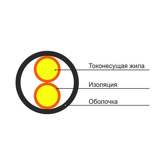 Кабель ВВГ-Пнг 2х2.5 (100 м)