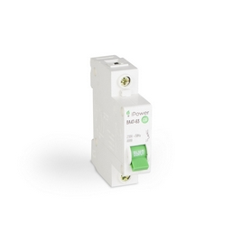 Автоматический выключатель реечный iPower ВА47-63 1Р 10А