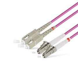 Патч Корд Оптоволоконный SC/UPC-LC/UPC MM OM4 50/125 Duplex 3.0мм 1 м