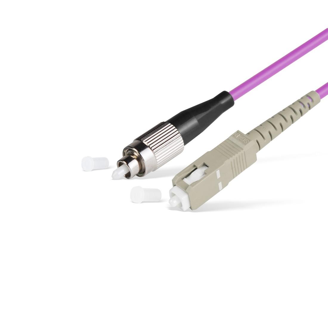 Патч Корд Оптоволоконный FC / UPC-SC / UPC MM OM4 50 / 125 Simplex 3.0мм 1 м