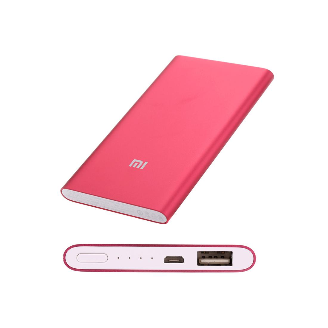 Портативное зарядное устройство Xiaomi Mi Power Bank 5000mAh Красный