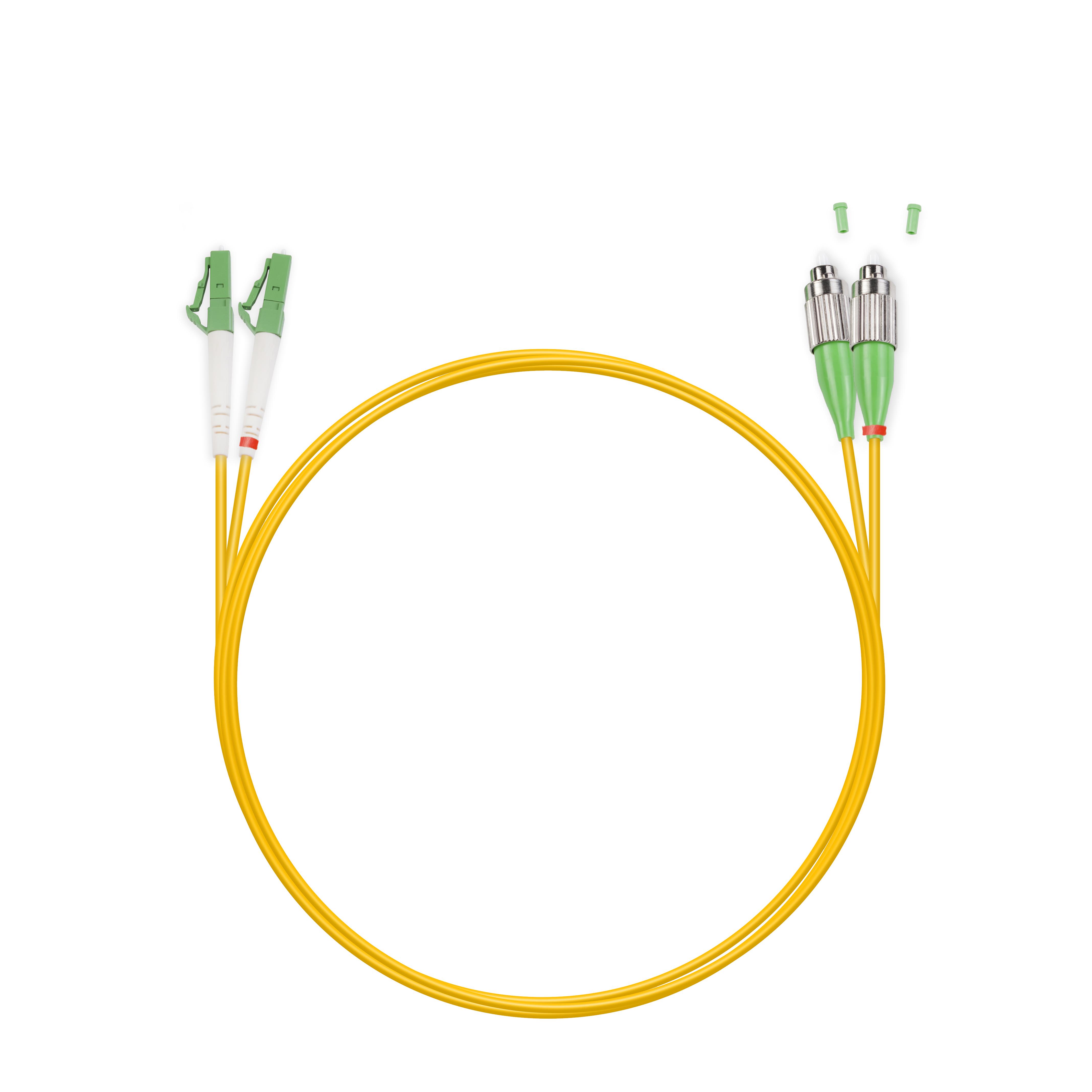 Патч Корд Оптоволоконный FC / APC-LC / APC SM 9 / 125 Duplex 3.0мм 1 м