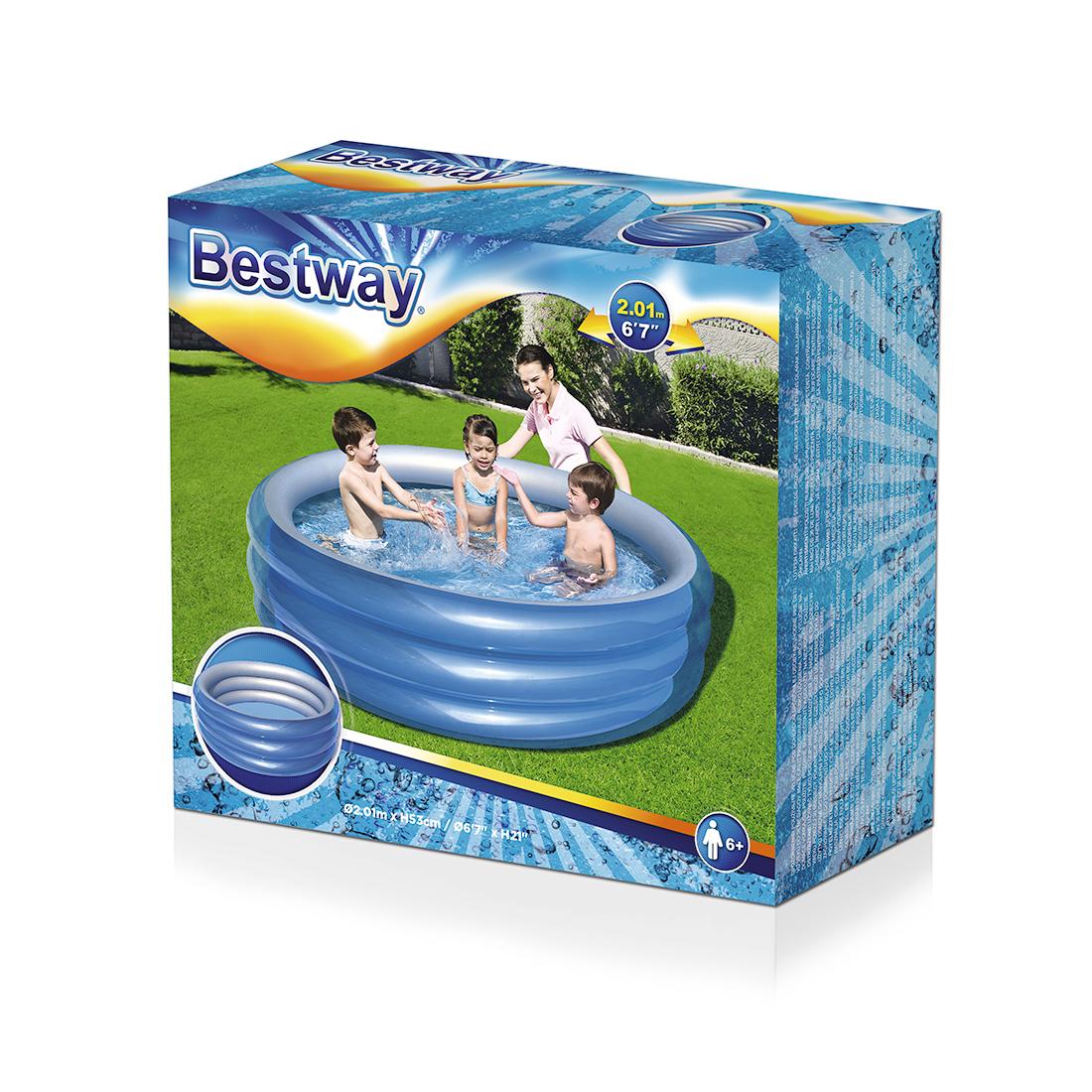 Надувной бассейн Bestway 51043 (синий)