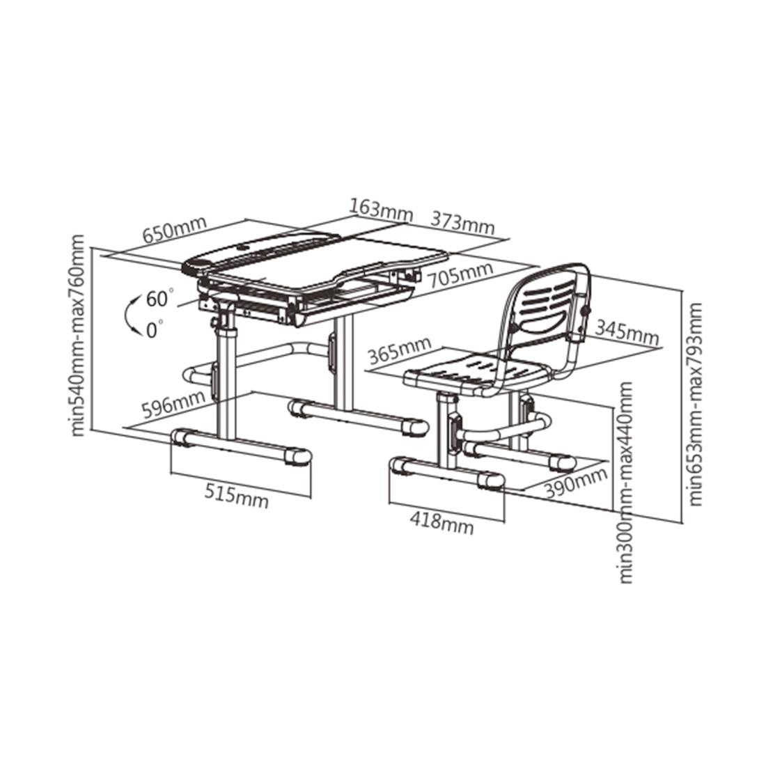 Парта-трансформер Deluxe DLCD-C304B