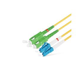 Патч Корд Оптоволоконный SC/APC-LC/UPC SM 9/125 Duplex 3.0мм 2 м