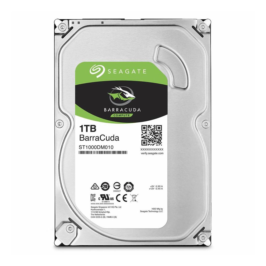 Жёсткий диск HDD 1Tb Seagate Barracuda SATA6Gb / s 7200rpm 64Mb 3,5