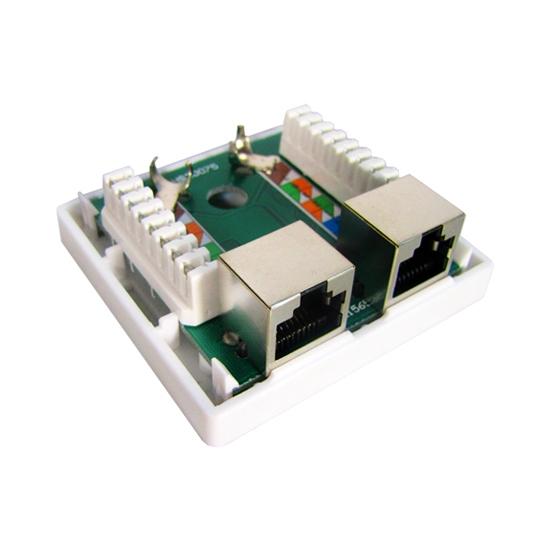 Розетка Настенная телекоммуникационная 2 Модуля SHIP A184-2
