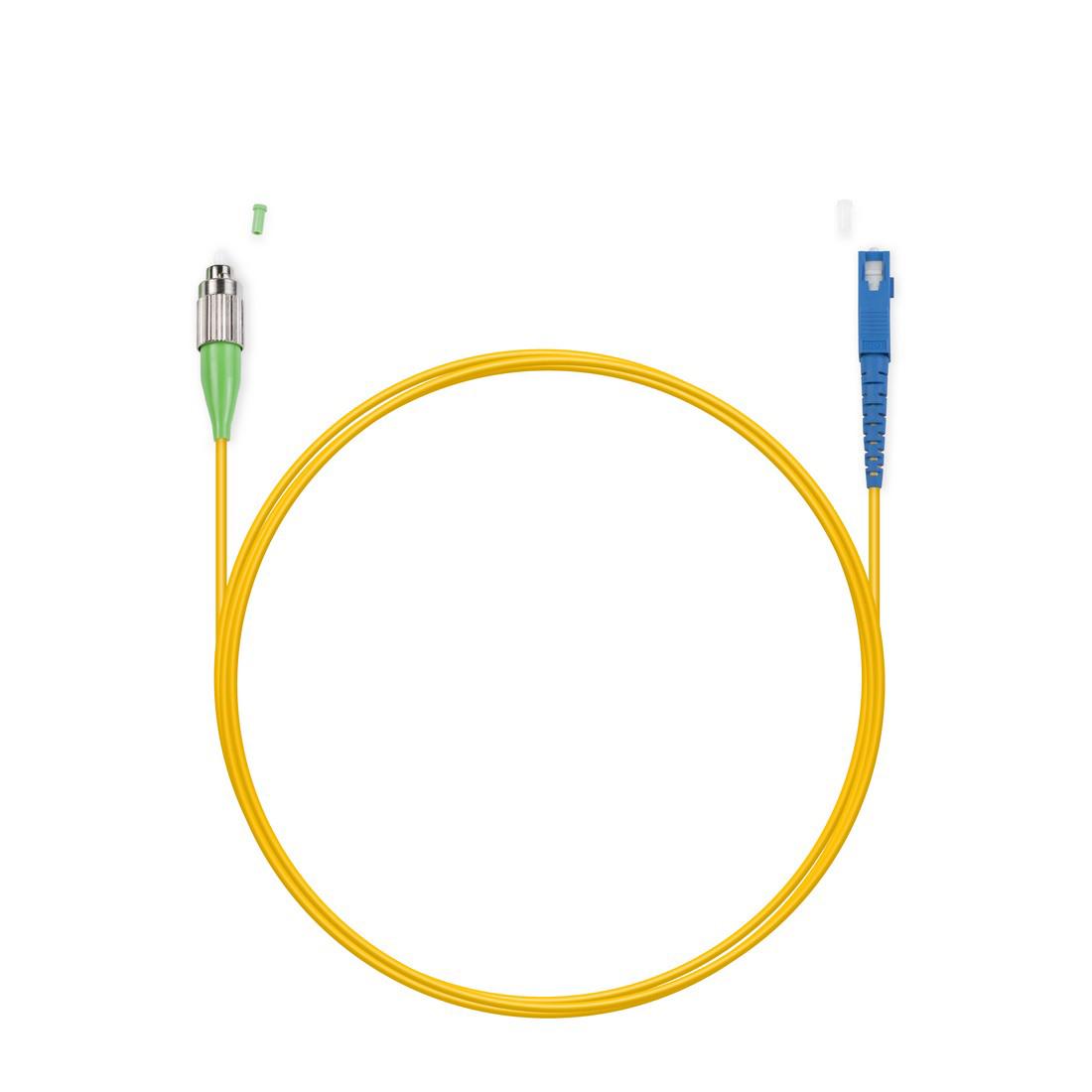 Патч Корд Оптоволоконный FC / APC-SC / UPC SM 9 / 125 Simplex 3.0мм 1 м