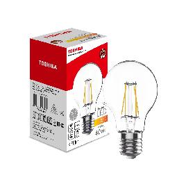 Филаментная лампа Toshiba A60 5W (40W) 2700K 470lm E27 ND Тёплый