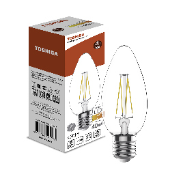 Филаментная лампа Toshiba C35 4W (40W) 2700K 470lm E27 ND Тёплый