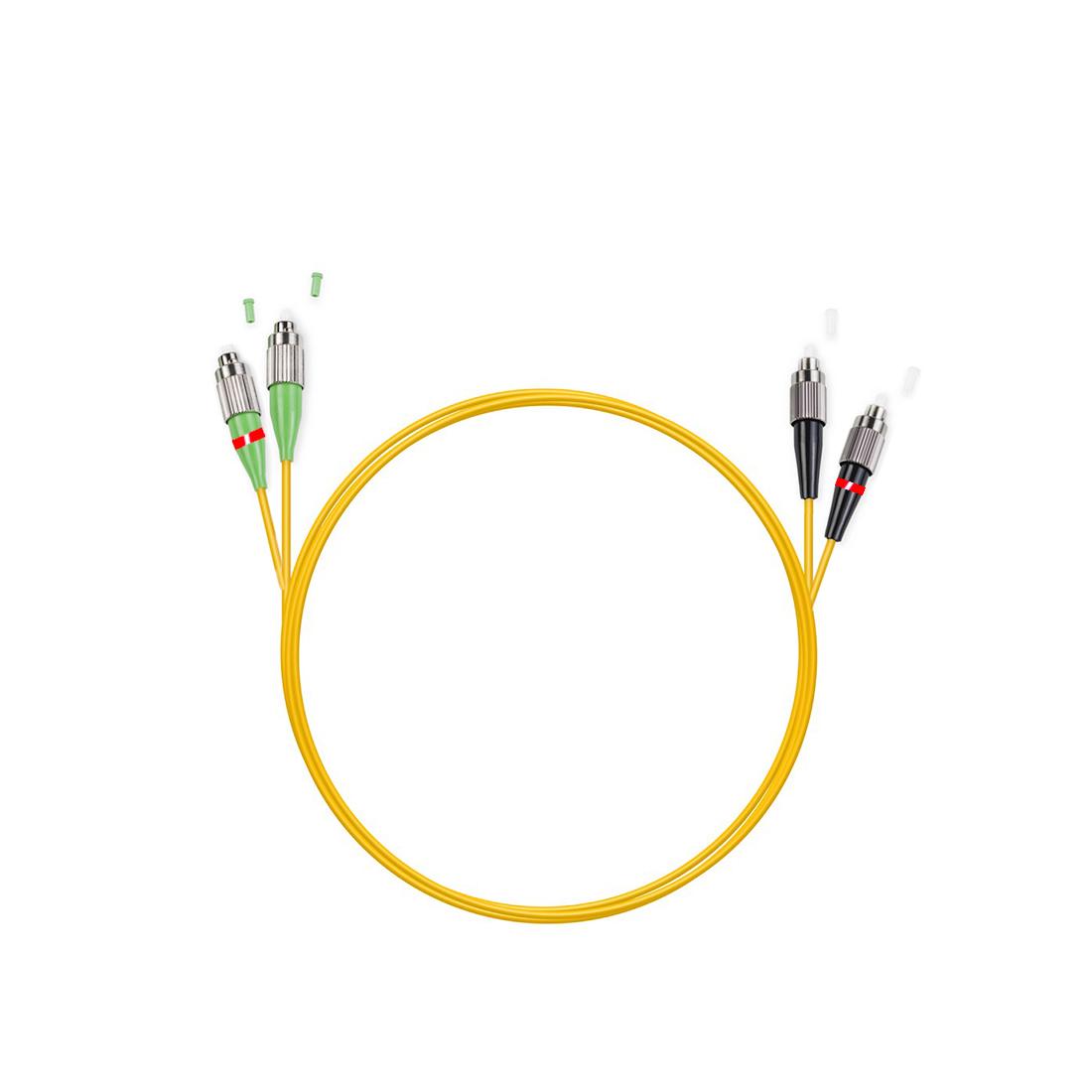 Патч Корд Оптоволоконный FC / UPC-FC / APC SM 9 / 125 Duplex 2.0мм 1 м