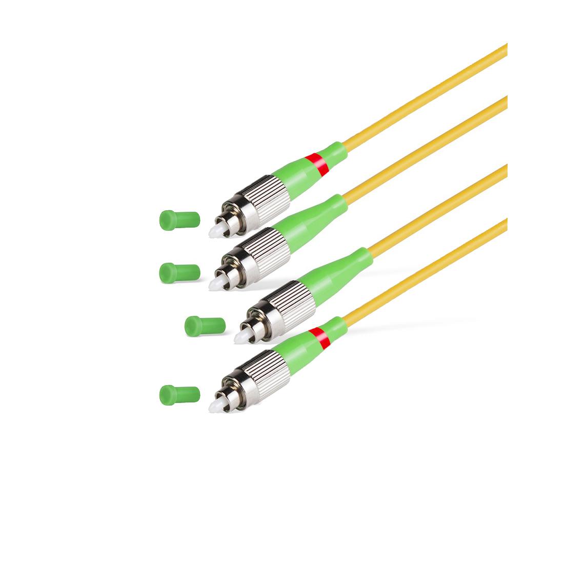Патч Корд Оптоволоконный FC / APC-FC / APC SM 9 / 125 Duplex 2.0мм 1 м