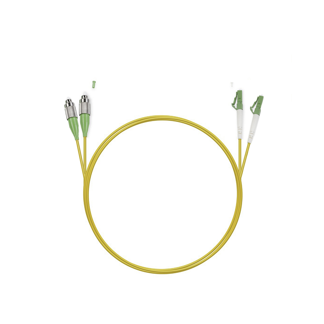 Патч Корд Оптоволоконный FC / APC-LC / APC SM 9 / 125 Duplex 2.0мм 1 м