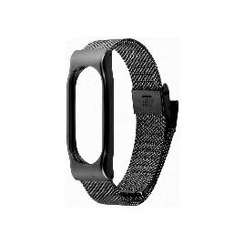 Сменный металлический браслет для Xiaomi Mi Band 2 Черный