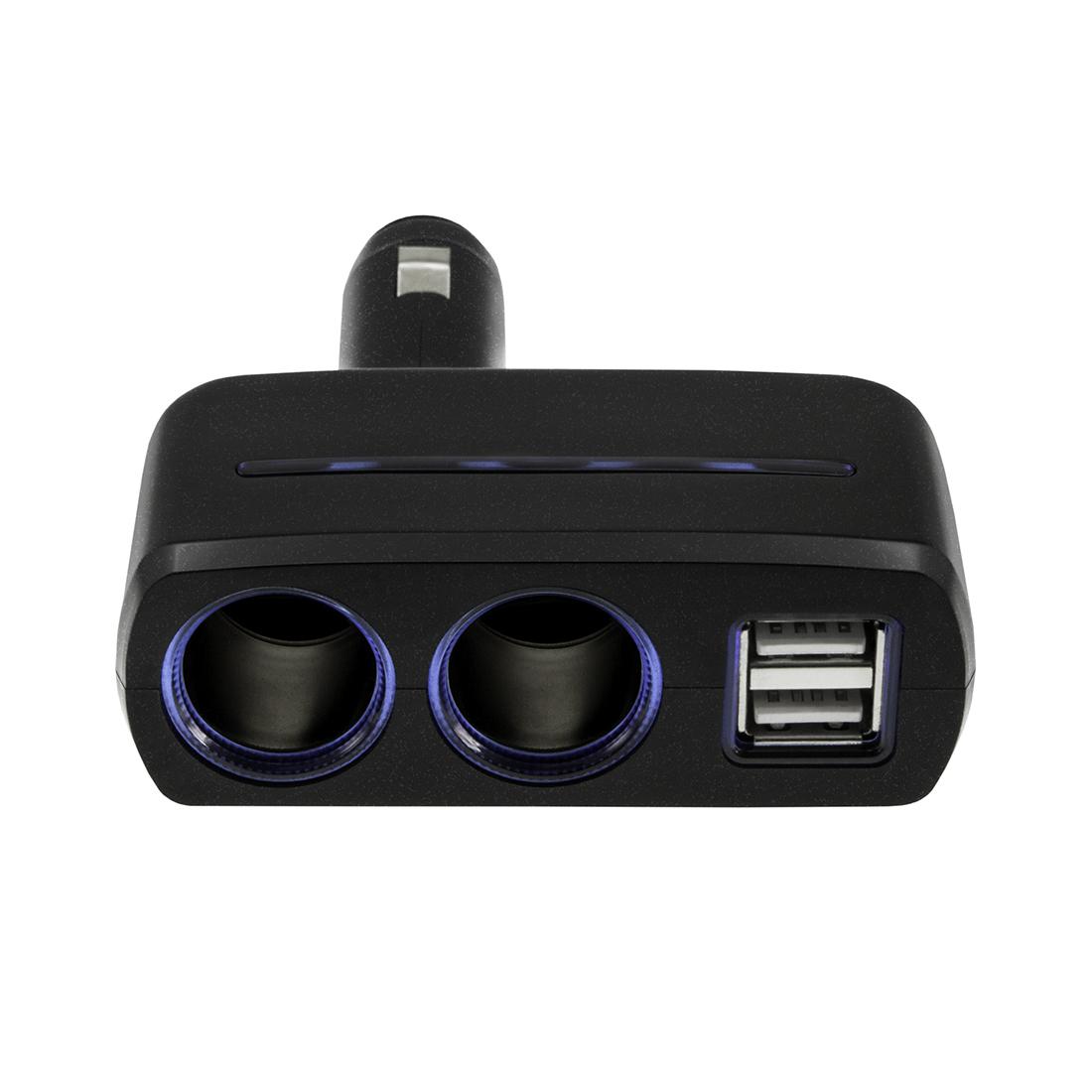Разветвитель на 2 розетки  2 USB Neoline SL-220