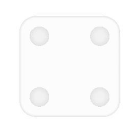 Силиконовый чехол для весов Xiaomi Mi Scale 2 Белый
