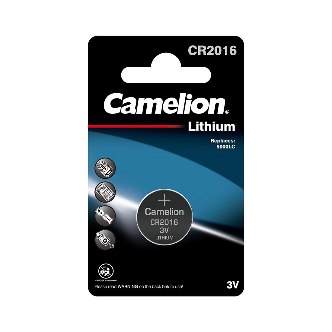 Батарейка CAMELION Lithium CR2016-BP1