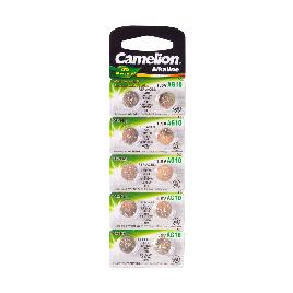Батарейка CAMELION Alkaline AG10-BP10(0%Hg)