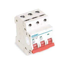 Автоматический выключатель реечный HYUNDAI HIBD63-N 3PMCS0000C 3Р 10А