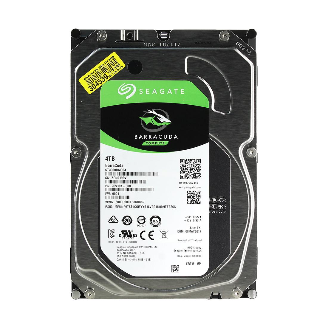 Жёсткий диск HDD 4Tb Seagate Barracuda SATA6Gb / s 5400rpm 256Mb 3,5