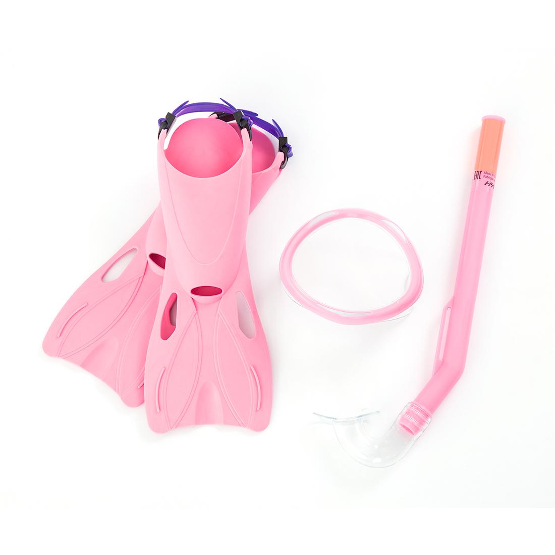 Набор для плавания Bestway 25018 в упаковке: маска, трубка, ласты
