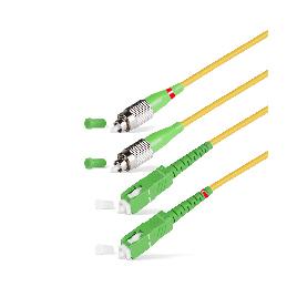 Патч Корд Оптоволоконный FC/APC-SC/UPC SM 9/125 Duplex 2.0мм 1 м