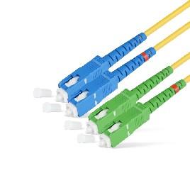 Патч Корд Оптоволоконный SC/UPC-SC/APC SM 9/125 Duplex 2.0мм 1 м
