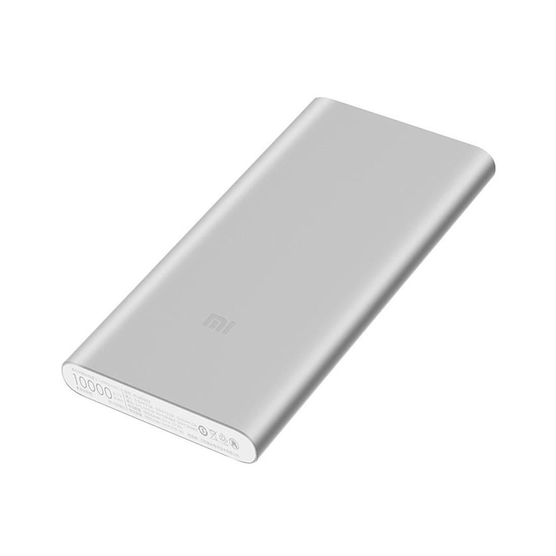 Портативное зарядное устройство Xiaomi Mi Power Bank 10000mAh 2S (2018 2-USB) Серебристый