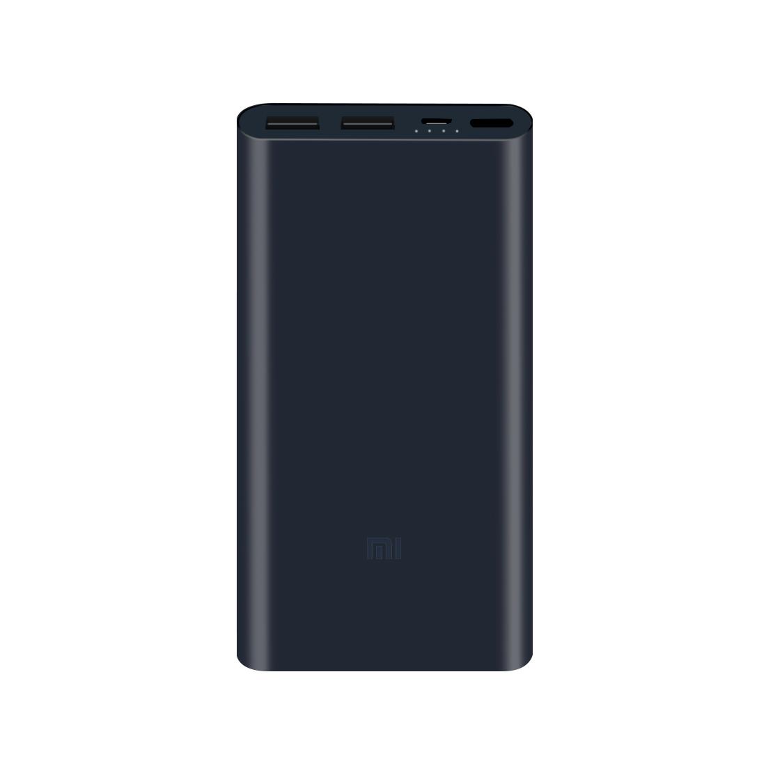 Портативное зарядное устройство Xiaomi Mi Power Bank 10000mAh 2S (2018 2-USB) Тёмно-Синий