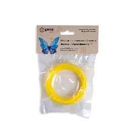 Филамент (нить) для 3D ручки Желтый светящийся PLA 10м.