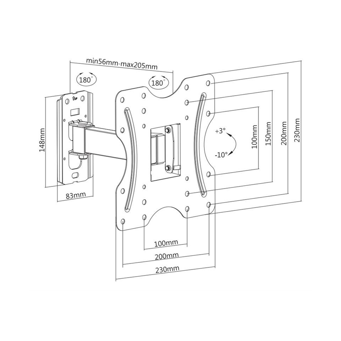 Кронштейн Brateck KLA27-221 для ТВ и мониторов, 23