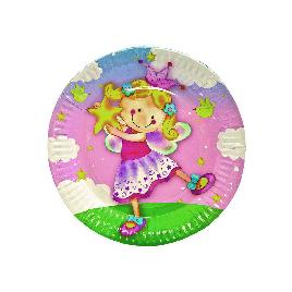 Тарелка праздничная 1502-1295 (6 шт. в пакете)