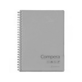 Блокнот A6 Comix CPA6801, 80 л., серый