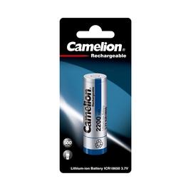 Аккумулятор CAMELION Lithium ICR18650-BP1, 2200 mAh