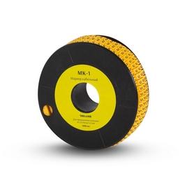 """Маркер кабельный Deluxe МК-1 (2.6-4,2 мм) символ """"6"""" (1000 штук в упаковке)"""