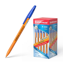 Ручка шариковая ErichKrause® R-301 Orange Stick 0.7, цвет чернил синий (упак./50 шт.)