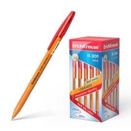 Ручка шариковая ErichKrause® R-301 Orange Stick 0.7, цвет чернил красный (упак./50 шт.)