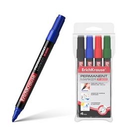 Футляр перманентных маркеров ErichKrause®  P-200, цвет чернил: черн., син., красн., зел.