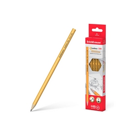 Чернографитный шестигранный карандаш ErichKrause® Amber 100 HB