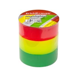 Клейкая лента ErichKrause® Highlighter, 18ммх20м (в пленке по 3 ленты)