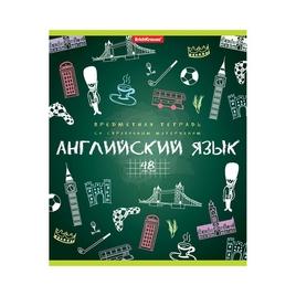 Тетрадь общая ученическая ErichKrause® К доске!, Английский язык, 48 листов, клетка