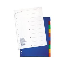 Разделитель листов пластиковый ErichKrause® 10 листов, по цветам, A4 (коробка 30 листов)