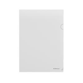 Папка-уголок пластиковая  ErichKrause® Fizzy, A4, прозрачный (в пакете по 10 шт.)
