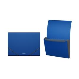 Папка-картотека пластиковая  ErichKrause® Classic, с 12 отделениями, A4, синий (в дисплее по 6 шт.)