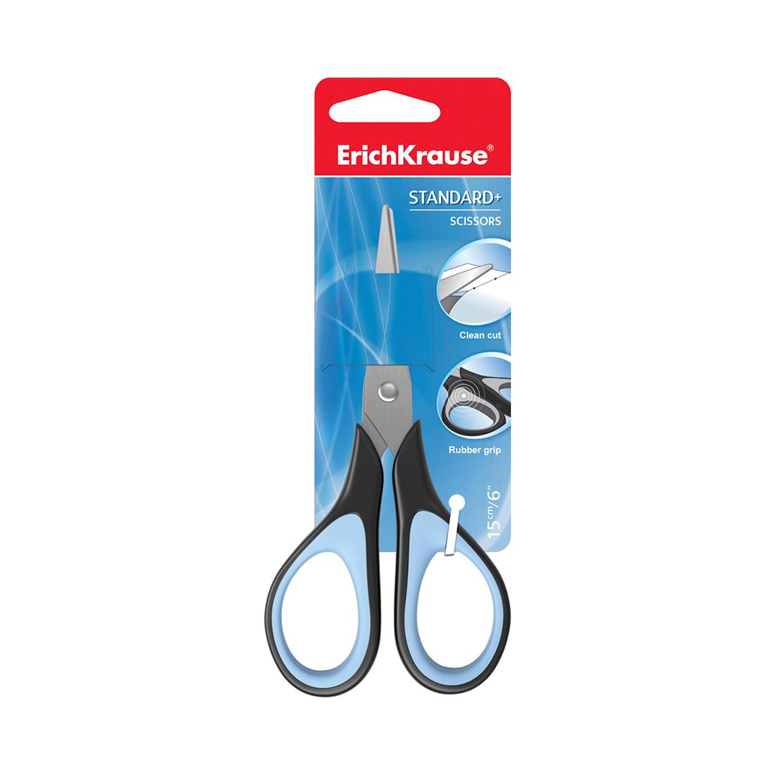 Ножницы ErichKrause® Standard+, 15см (в блистере по 1 шт.)